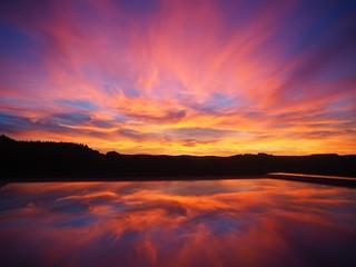 Sunset reflection  Fototapete