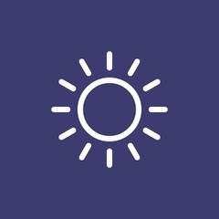 Sun icon for simple flat style weather ui design