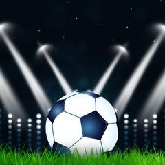 Football Ball witl blurry lights
