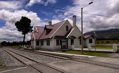 Urbina, the highest railway station in Ecuador