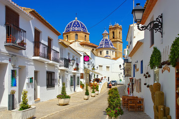 Wall Murals European Famous Place Altea an der Costa Blanca, Spanien - Altea on Costa Blanca, Spain