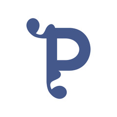 Sign of the letter P