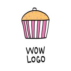 Handdrawn cake logo