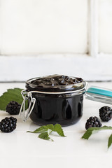 Blackberry Preserves and Fruit