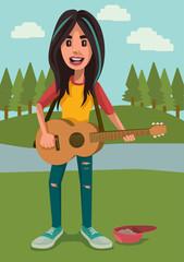 Singer at the Park