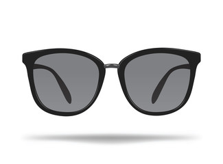 Sunglasses. Cartoon glasses for protection from the sun. Stylish decoration for the face. Isolated vector illustration on white background.