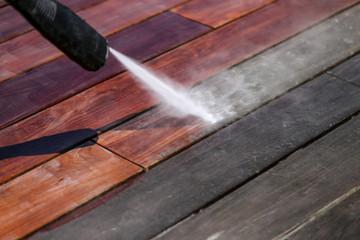 nettoyage terrasse bois haute pression Fotobehang