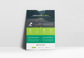 Green Flyer Layout with Header Image