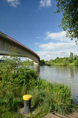 Brücke über die Saarmündung in die Mosel bei Konz