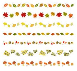 秋のアイコン ラインセット