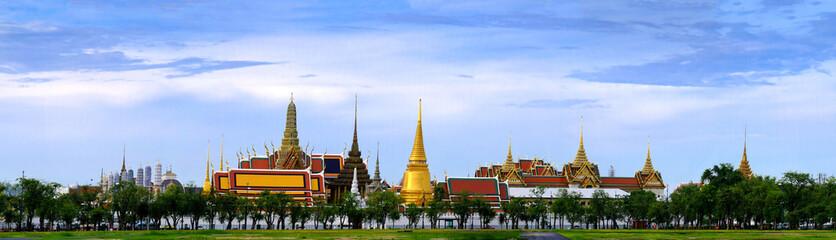 Poster Bangkok Wat Phra Kaew, Temple of the Emerald Buddha, Bangkok, Thailand. Panorama