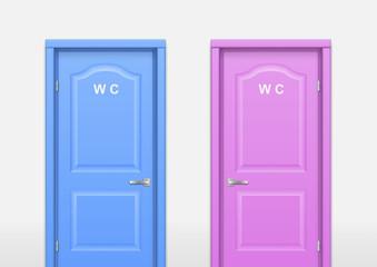 Door wc in the interior