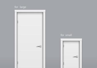 Door big and small