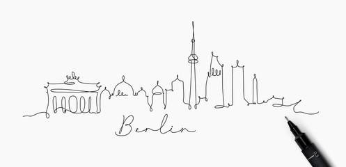 Pen line silhouette berlin