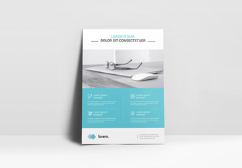 Flyer Layout with Light Blue Accents
