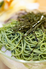 Soba, Japanese food style, Hiyashi Chuka, Japanese Cold Noodles Set, Chilled ramen noodles,