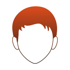 Young man faceless cartoon vector illustration graphic design