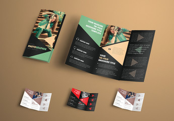 Business Brochure with Triangle Elements