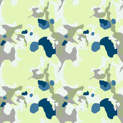 Camo background in national green, blue and grey colors