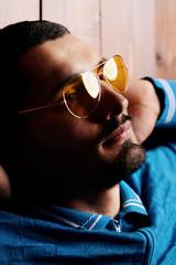yellow male sunglasses