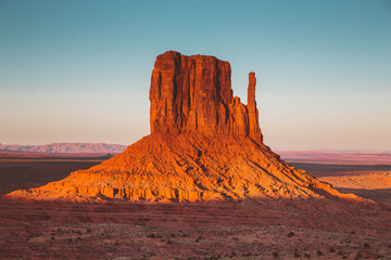 Wall Mural - Monument Valley at sunset, Utah, USA