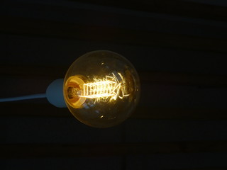 Fixture in the form of an incandescent lamp