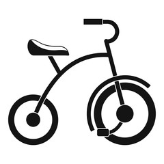 Girl tricycle icon. Simple illustration of girl tricycle vector icon for web design isolated on white background
