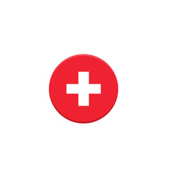 Switzerland flag. Vector Flat design