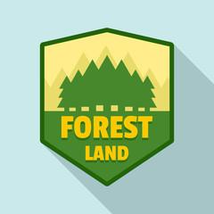 Forest land logo. Flat illustration of forest land vector logo for web design