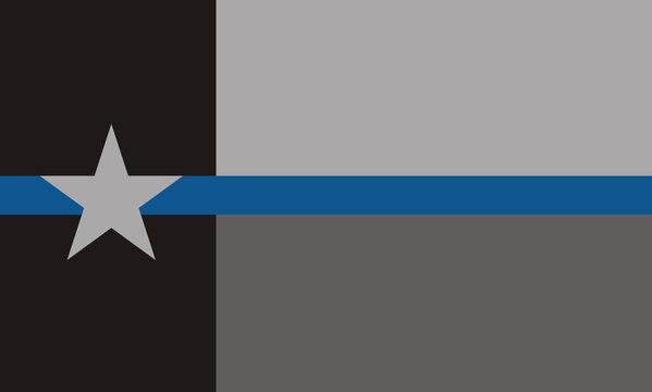 USA Texas Police Flag