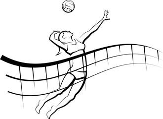Flowing Net Beach Volleyball Female