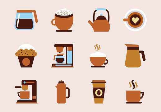 16 Colorful Coffee Icons