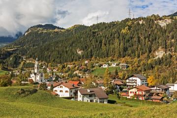 Tiefencastel, Ortsteil von Albula/Alvra im Albulatal inGraubünden, Schweiz