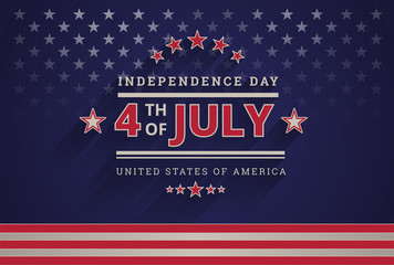 American design - Happy Independence Day USA 4th of July dark blue background - 4th of July USA independence day celebration vector