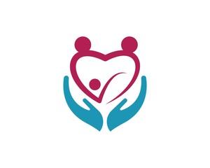 family care symbol icon logo design