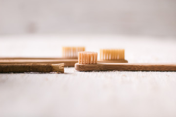 bamboo eco toothbrush. zero waste concept