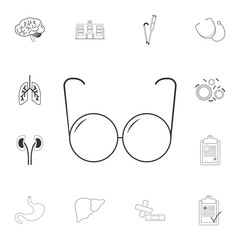 Optical glasses icon. Simple element illustration. Optical glasses symbol design from Medical collection set. Can be used for web and mobile