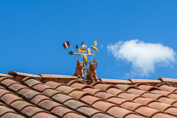 Torito de Pucara Rooftop Ornaments in Sacred Valley, Peru