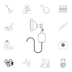 Breathing apparatus icon. Simple element illustration. Breathing apparatus symbol design from Medical collection set. Can be used for web and mobile