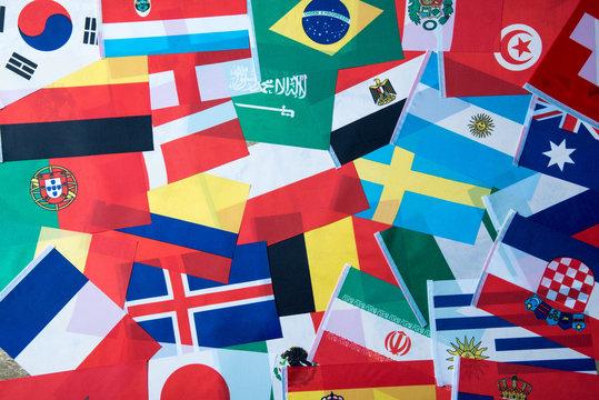 International world flag , Football world cup in Russia 2018