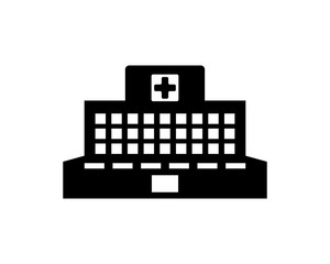 hospital silhouette medical medicare health care pharmacy clinic image vector icon