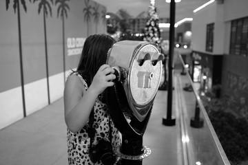 Woman looking through Viewfinder