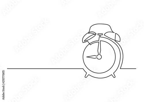 continuous line drawing of alarm clock stock image and royalty free Cool Clocks continuous line drawing of alarm clock