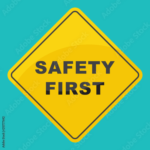 safty first sign security concept stock image and royalty free