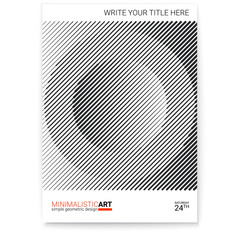 Geometric cover design, modern. Creative poster with simple shape in bauhaus style, minimalistic art. Modern digital art with halftone patterns. Template for cover, print design, vector illustration.