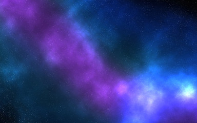 Galaxy in outer space neubula colorful blue and pink clouds