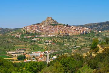 die alte mittelalterliche Stadt Morella, Castellon in Spanien - the old medieval town of Morella in Spain