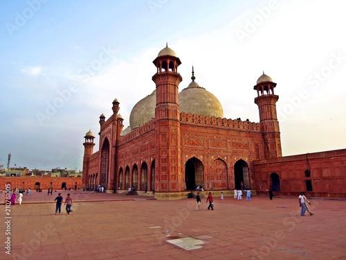 The Badshahi Mosque in Lahore, Pakistan
