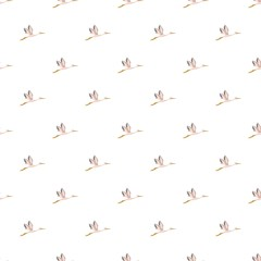 Stork pattern seamless repeat in cartoon style vector illustration