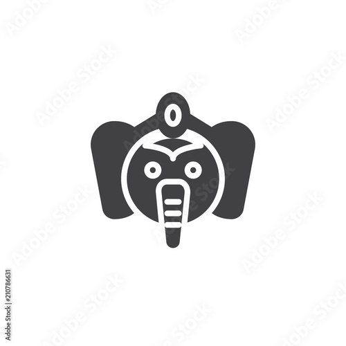 Lord Ganesha Vector Icon Filled Flat Sign For Mobile Concept And